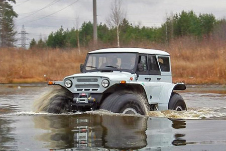 Floating Uaz Vehicles Made In Russia